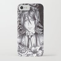 black butler iPhone & iPod Cases featuring Black Butler - Sebastian Michaelis by Furiarossa