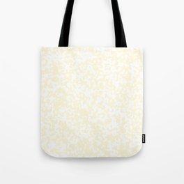 Small Spots - White and Cornsilk Yellow Tote Bag