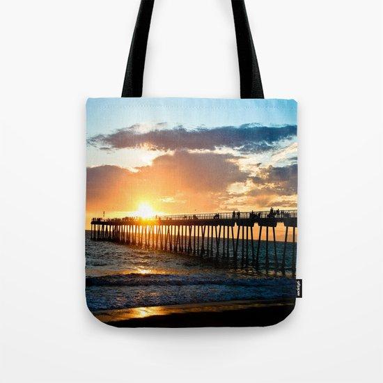 Hermosa Pier (2) Tote Bag