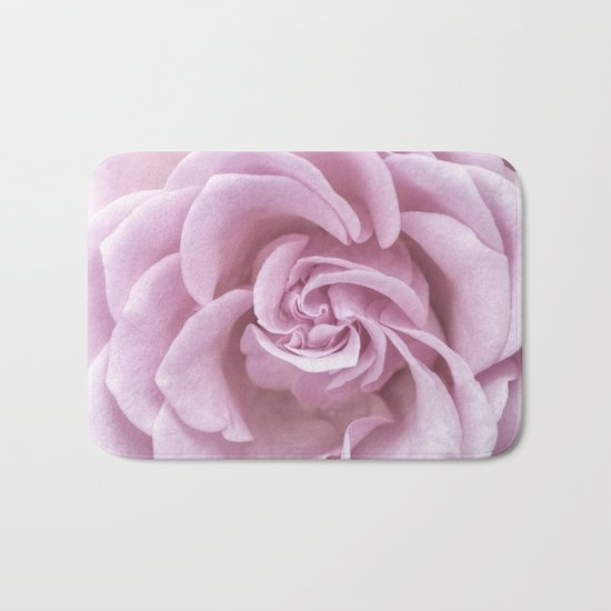 Pink Heart of a rose Roses Flowers Bath Mat