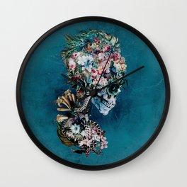 Floral Skull RP Wall Clock