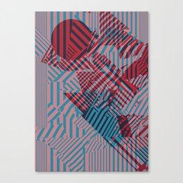 Dazzle Camo #02 - Blue & Red Canvas Print
