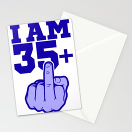Middlefinger Up I'm 35th Birthday Gift Idea Stationery Cards