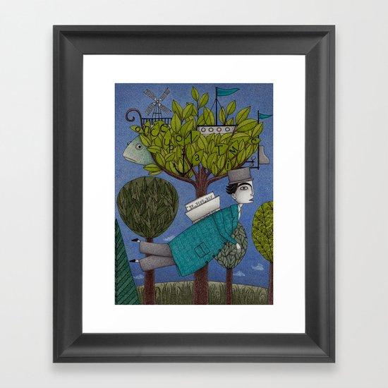 The Reading Tree Framed Art Print