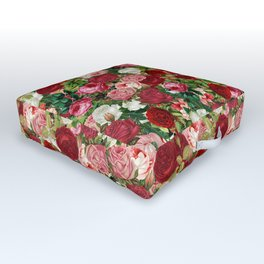 Vintage Flowers Outdoor Floor Cushion
