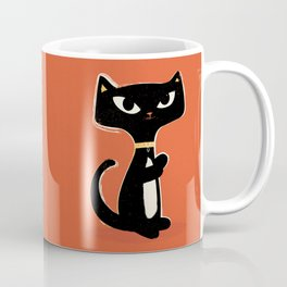Suspiciously Cute Black Cat Coffee Mug