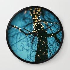 Bokeh tree. Wall Clock