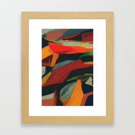 Lessons To Learn Abstract Landscape Framed Art Print