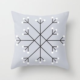 Mod Snowflake Frost Throw Pillow