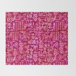 Tapa Tribal Red Throw Blanket