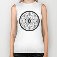 compass Biker Tanks featuring Compass Rose by 83 Drops