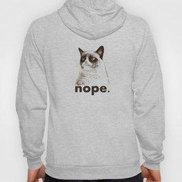 NOPE - Grumpy cat. Hoody