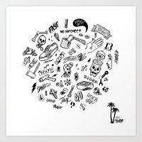 Rider Pattern Art Print
