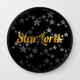 Golden Star Lord Wall Clock