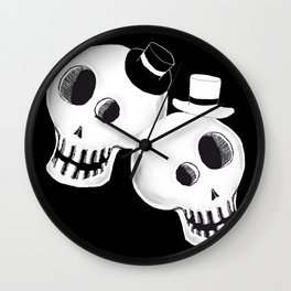 Dapper Skulls Wall Clock