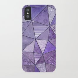 Purple Lilac Glamour Shiny Shimmering Patchwork iPhone Case