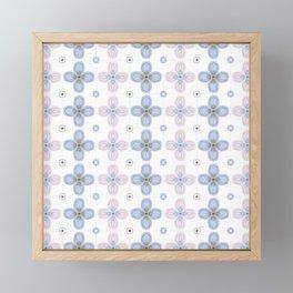 Faux Cross Stitch Mosaic Framed Mini Art Print