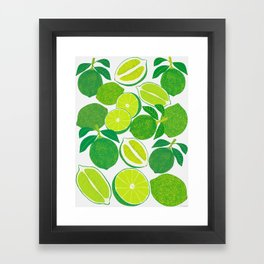 Lime Harvest Framed Art Print