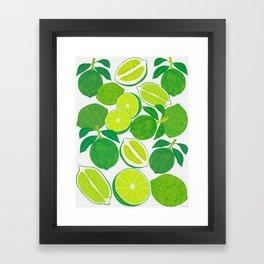Lime Harvest Framed Art Print
