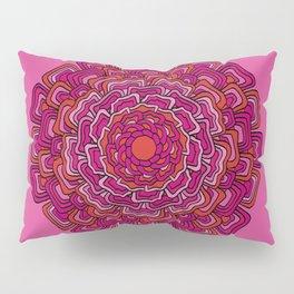 Pink Orange Mandala Pillow Sham