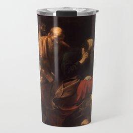 Death of the Virgin by Caravaggio (1606) Travel Mug
