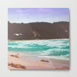 Purple Sky on the Beach Metal Print