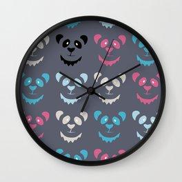 Panda Commotion Wall Clock