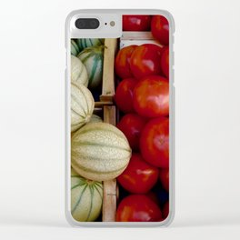 Melons and Tomatoes Clear iPhone Case