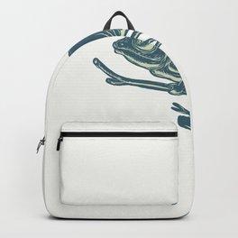 Chameleon On Branch Scratchboard Backpack