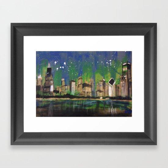 Chicago Night Framed Art Print