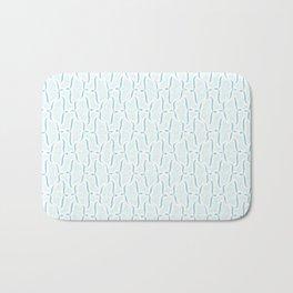 Bracket Blue Bath Mat