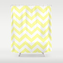 Lemon yellow (Crayola) - yellow color -  Zigzag Chevron Pattern Shower Curtain