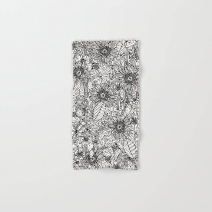 pencil flowers Hand & Bath Towel