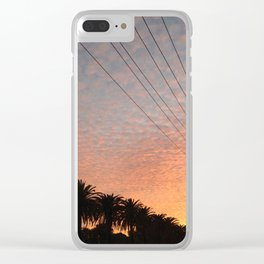 Perforated Clouds Clear iPhone Case