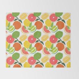Citrus Harvest Throw Blanket