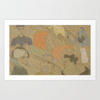 fifth element Art Prints featuring The Fifth Element by Itxaso Beistegui Illustrations