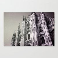milan Canvas Prints featuring Milan by very giorgious