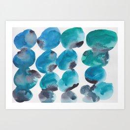 30  |  190408 Blue Abstract Watercolour Art Print