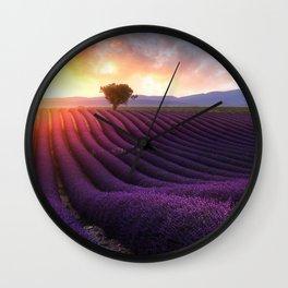 Lavender Sunset Wall Clock