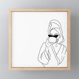 Self Care Framed Mini Art Print