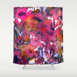 Poppy Patch Tapestry Shower Curtain