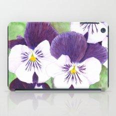 Pansies flowers iPad Case