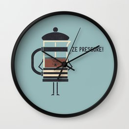 French Press Wall Clock
