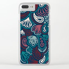 Abstract Batik Pattern IV Clear iPhone Case