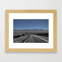 Destiny onknown - Karoo road Framed Art Print