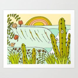 where nature and waves bloom art by surfy birdy Art Print