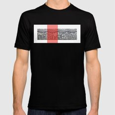 Four sides of a box (iii) Black MEDIUM Mens Fitted Tee