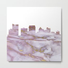 Fort Lauderdale Skyline Metal Print
