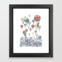 Voyages Over Edinburgh ~ Refresh Framed Art Print
