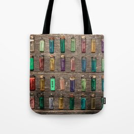 Grid of found Beach Lighters from Cambodia Tote Bag
